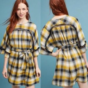 Anthropologie Maeve Plaid Tunic Kimono Dress
